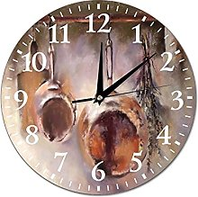Wall Clock Paiting For The Kitchen With Dishes
