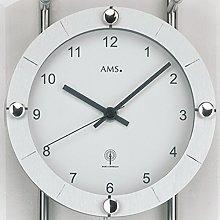 Wall Clock Pendulum Radio Mineral Glass with