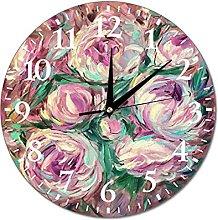 Wall Clock Peony Aroma With Hints Of Chocolate.