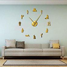 Wall clock Pregnancy Wall Art Home Decor DIY Large