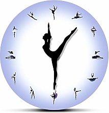 Wall clock Purple Ballerina Wall Clock With