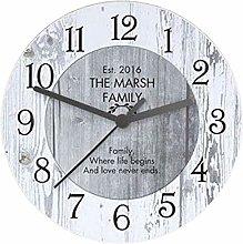 Wall Clock Retro Wall Clock Wooden Quartz Clock