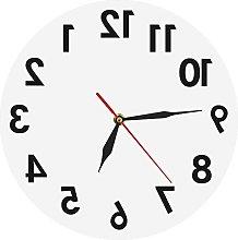 Wall Clock Reverse Wall Clock Unusual Numbers