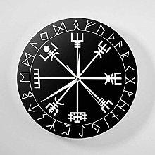 Wall Clock Rune Circle Viking Nordic Mythology