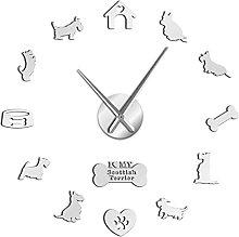 Wall Clock Scottish Terrier Wall Clock Aberdeen
