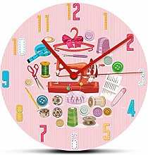 Wall Clock Sewing Supplies And Accessories