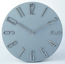 wall clock Silent and Non-Ticking Imitation Wood