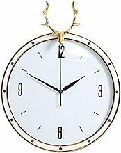 Wall Clock Silent Clock Pure Copper Deer Head Wall