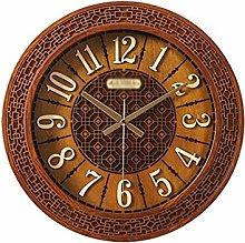 Wall Clock Silent Clock Solid Wood Wall Clock Art