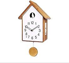 Wall Clock Silent Clocks Solid Wood Pendulum Wall