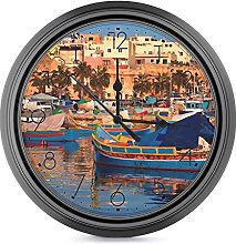 Wall Clock Silent Non Ticking, Battery Operated 25
