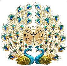 Wall Clock Silent Non Ticking,Peacock Wall Clocks