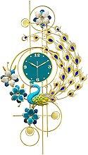 Wall Clock Silent,Peacock Wall Clocks for Living
