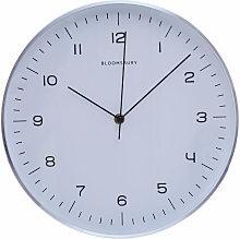Wall Clock Silver / Black Finish Frame Clocks For
