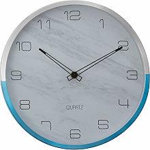 Wall Clock Silver / Blue Finish Silver Frame