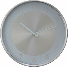 Wall Clock Silver Finish Frame Clocks For Living