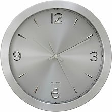 Wall Clock Silver Frame / Silver Finish Frame