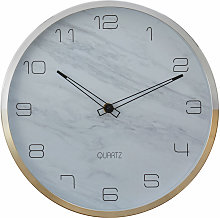 Wall Clock Silver / Gold Finish Silver Frame