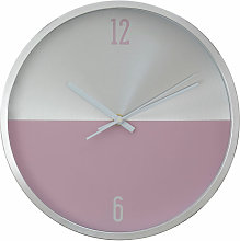 Wall Clock Silver / Pink Finish Frame Clocks For