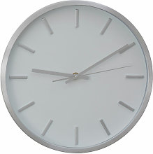 Wall Clock Silver / White Finish Frame Clocks For