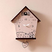 Wall clock Solid Wood Material Personality Clock