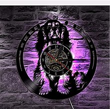 Wall clock spaniel vinyl record wall clock with