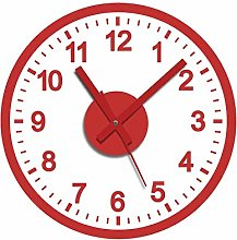 Wall Clock Sticker Red