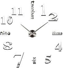 Wall Clock Stickers 3D Mirror Surface Silent Non