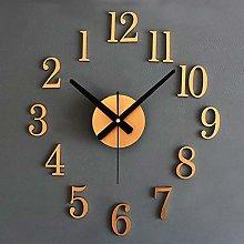 Wall Clock Stickers 3D Stereo DIY Metallic Silent