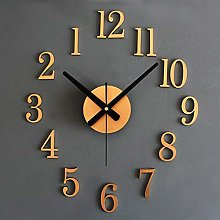 Wall Clock Stickers 3D Stereo DIY Metallic Silent