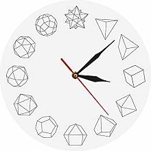 Wall Clock Stylish Solid Modern Simple Wall Clock