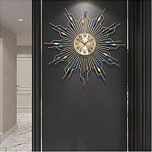 Wall Clock, Sunburst 3D Metal Decoration Clocks,