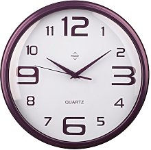 Wall Clock Symple Stuff Wall Clock Colour: Purple,