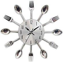 Wall Clock Tableware Kitchen Spoon Fork 3D