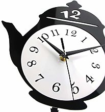 Wall Clock Teapot Whimsical Pendulum Wall Clock