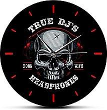 Wall Clock True Dj'S Born With Headphone