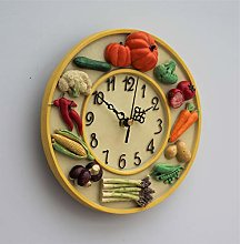 Wall Clock Vegetables Kitchen School Office Home