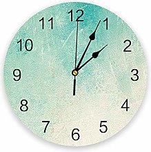 Wall clock Vintage Bronze Green Wall Clock Kitchen