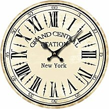 Wall Clock Vintage Farm Rustic Design Shabby Chic
