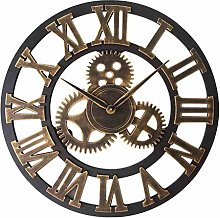 Wall Clock Vintage,Large Wall Clock With Roman