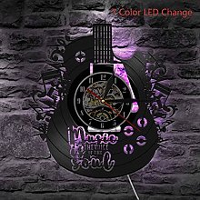 wall clock Vinyl Acoustic Guitar,Wall Clock with 7