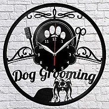Wall Clock Vinyl Records for Dog Grooming Salons
