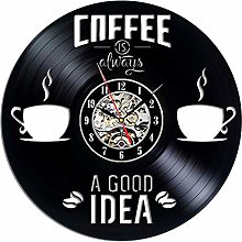 wall clock Vinyl Wall Clock for Cafe,3D Vintage