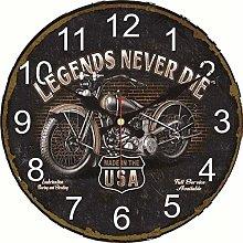 Wall Clock Wall Clock Shabby Chic Motorcycle