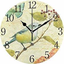 Wall Clock Wall Clock Silent Clock Beige Vintage