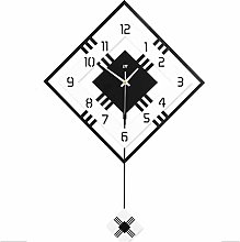 Wall Clock Wall Clock Square Frame With Swinging