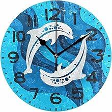 Wall Clock Wall Clock Trendy Craft Style Marine