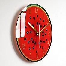 Wall Clock Watermelon Bedroom Glass Wall Clock