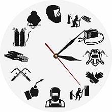 Wall clock Weld Life Welder Contemporary Quartz