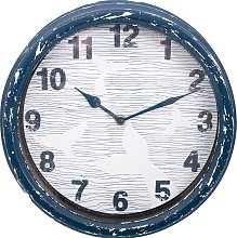 Wall Clock - Whale's Tail Design